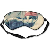 Sleep Eye Mask Cute White Cat Lightweight Soft Blindfold Adjustable Head Strap Eyeshade Travel Eyepatch preisvergleich bei billige-tabletten.eu