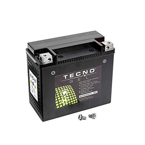 Premium TECNO-GEL Motorrad-Batterie HD14HL-BS = VTB-3 TWIN, 12V Gel-Batterie 12Ah, 149x87x144 mm inkl. Pfand
