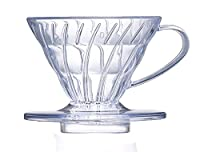 Diguo Coffee Dripper 1-4 Cups, Plastic Coffee Maker Filter Cone, Clear