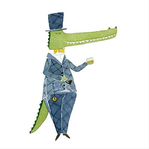 TTQIAOHUA Pintura Al Óleo, Pintura, Animal, Habitación De Niños, Dormitorio, Jardín De Infancia, Pintura A Pistola, Decoración 30X40Cm A