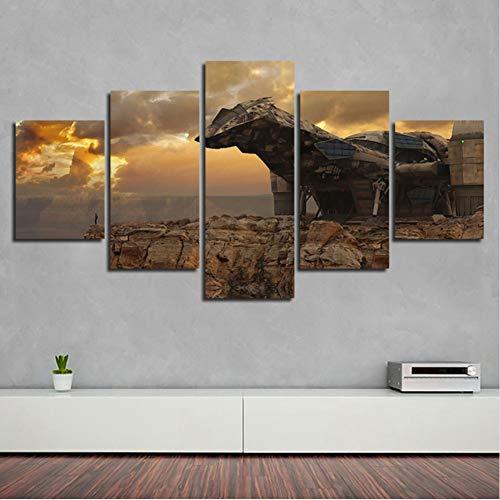 sshssh Kein Rahmen Leinwand Gedruckt Bilder Modulare Wandkunst 5 Stücke Firefly Serenity Malerei Abstrakte Film Poster Wohnzimmer Dekor