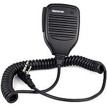 Retevis Micrófono Altavoz de Mano Función Micrófono Y Auricular para Kenwood Retevis BAOFENG HYT Walkie-talkies (Negro)