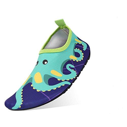 Jukkarri Badeschuhe, Kinder Schwimmschuhe Wasserschuhe Badeschuhe Leicht Aquaschuhe Rutschfeste Schnell Trocknend Strandschuhe Baby Surfschuhe Aquaschuhe für Mädchen und Jungen