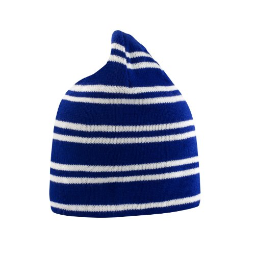 Result Unisex Winter Wende-Mütze / Beanie-Mütze (One Size) (Marineblau/Weiß/Marineblau) (Glatze-mütze)