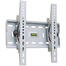 "TooQ LP4537T-S - Soporte fijo inclinable de pared para monitor/TV/LED de 17"" a 37"", hasta 75kg de peso, distancia a la pared 63mm, incluye nivel de burbuja, inclinacion -15º, formato VESA hasta 300x300, color plata"