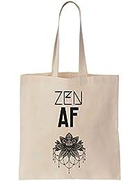 Zen AF Indian Decoration Cotton Canvas Tote Bag Bolsa de tela de algodón