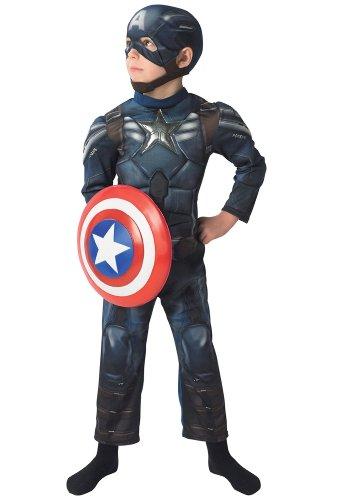 Return of the First Avenger-Kostüm für Kinder 98/104 (3-4 Jahre) (The Avengers Captain America Kostüm)
