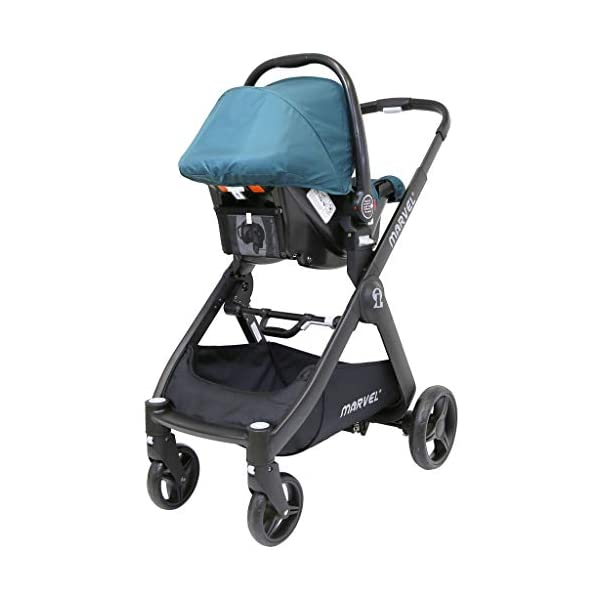 iSafe Marvel 2in1 Complete Pram System Pushchair and Carseat - Teal iSafe  8