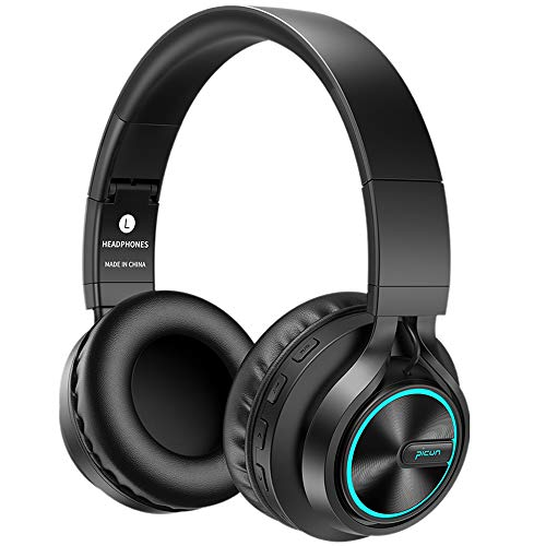 Bluetooth Kopfhörer Hifi BAONUOR Kabellos Bluetooth Headset On-Ear, HiFi Stereo Sound mit Bass, Mikrofon, TF Karte Slot, 3,5mm Audio AUX, Noise Cancelling, 18 Std. Spielzeit, für Handy, Tablets und PC Bluetooth-sound-karte