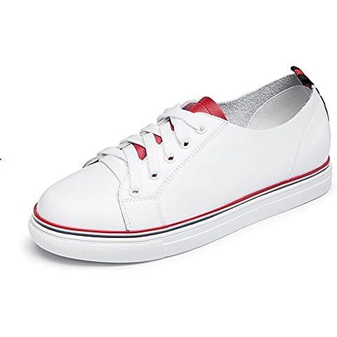 moda zapatos de cuero/Zapatos ocasionales de la cinta alrededor de la cabeza/Academia viento blanco del zapato/Zapatos planos/Zapatos del deporte