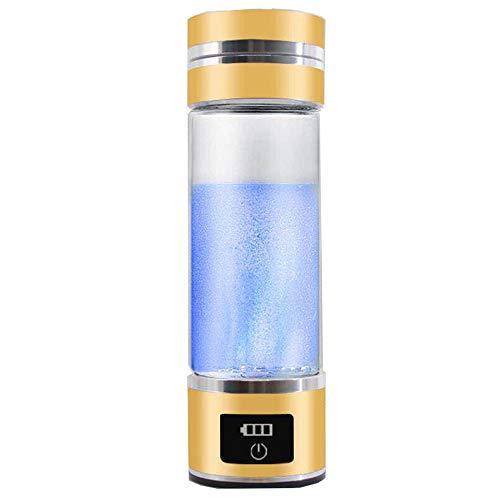 Tragbare molekularer Wasserstoff Cup, 3-Minuten Wasserionisierer, High Grade Titanplatten, Energie, Sport, Akku