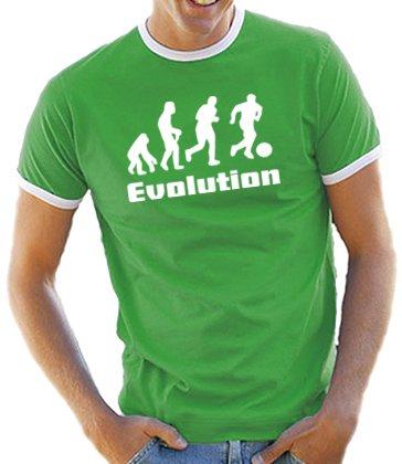 Evolution Fussball Kontrast / Ringer T-Shirt Kelly Green/White, M (Ringer Green Kelly)