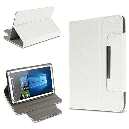 Universal Tablet Tasche Schutz Hülle 10-10.1 Zoll Tablet Schutzhülle Tab Case Cover Farbauswahl Standfunktion , Farben:Weiß, Tablet Modell für:ARCHOS 101c Platinum