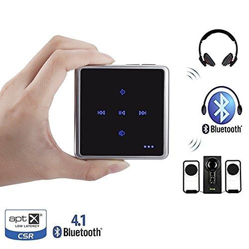 Audio Trasmettitore e il Ricevitore,Bouch Control Bluetooth V4.1 Adattatore, Supporto due Cuffie bluetooth o Altoparlanti Contemporaneamente Per la TV, iPod, MP3, auto o Stereo di Cas