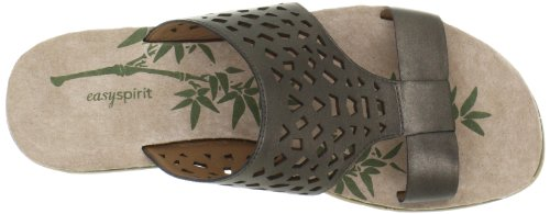 Easy Spirit e360 Maybeso Femmes Cuir Sandale Argent - Pewter