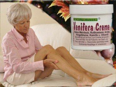 Venencreme Venifera zur sanften Bein und Venenpflege mit Rotem Weinlaub Rosskastanie Olivenöl - ohne Paraffine - auch besonders geeignet...