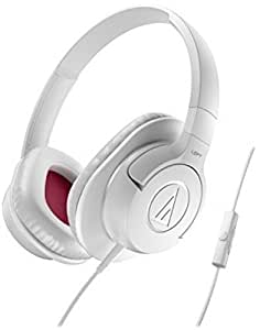 Audio-Technica ATH-AX1iSWH Over the Ear Headset