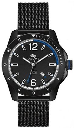 Lacoste Durban Black Dial Black Ion-plated Mesh Men's Watch 2010735