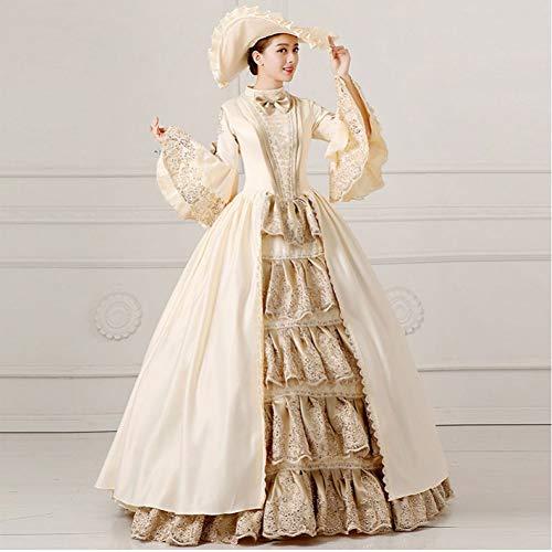 QAQBDBCKL Gericht Kleid 18. Jahrhundert Königin Viktorianischen Kleidern Ballkleider Für Damen Halloween Cosplay Kostüm