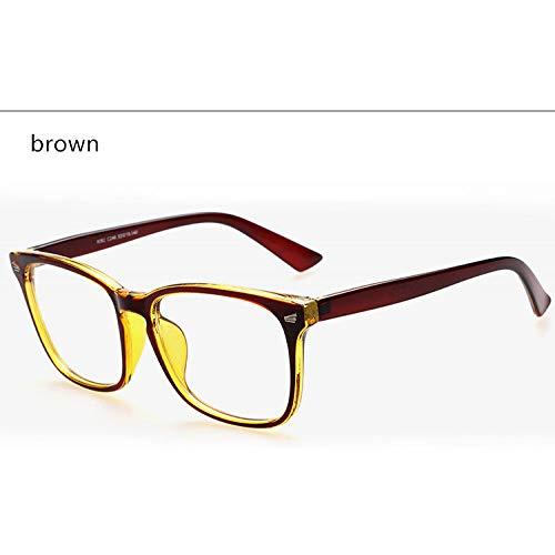 YMTP Designer Spektakel Optische Gläser Rahmen Anti-Strahlung Computer Brillen Brillen Rahmen Für Frauen, Braun