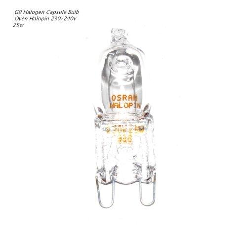 Mikrowelle Backofen über (Osram Halopin Backofen-Lampe 230 V/240V, 25 W, G9 Halogen, Stiftform, für Bosch, Neff, Siemens, Delonghi, Ocean, Fagor, für Öfen und Mikrowellen, geeignet für hohe Temperaturen)