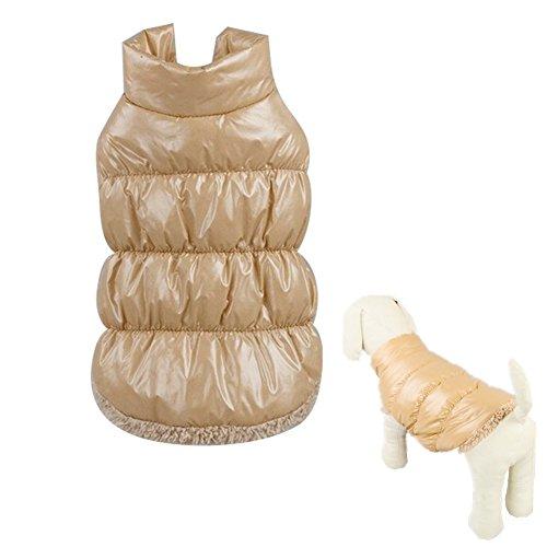 Hund Jacke Hunde Weste Daunenjacke Hundemantel Haustier Mäntel Sweatshirt Warm Pullover Herbst und Winter Kleidung Beige 3XL