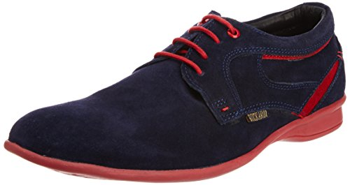 Buckaroo Men's Navy and Red Leather Shoes - 7 UK  available at amazon for Rs.918