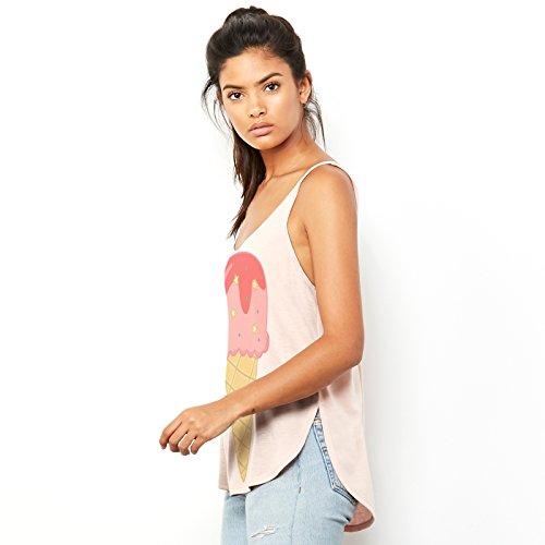 TWISTED ENVY  Damen T-Shirt Pfirsich