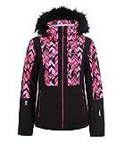 Icepeak Damen Skijacke Nancy, schwarz/pink, Gr. 38