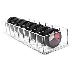 Make Up Organizer Acryl Schubladen Kosmetik Aufbewahrung Organizer Große Halter Cosmetic Make-Up Schmuck-Box Klar für Lidschatten Gesichtspuder Nagellack Lippenstift Transparente 10×3,5×2 Zoll 8 Zelle