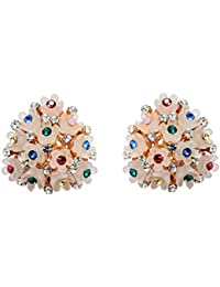 Mansiyaorange Korean Indo Western Exclusive Fancy Party Wedding Casual Wear Pierced Long Earrings FOR Girls And...