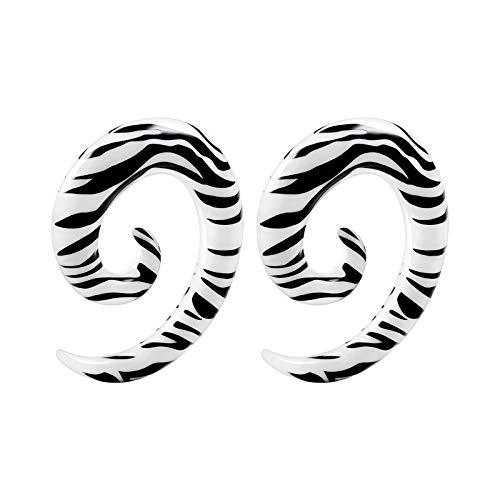 BIG GAUGES 1 Paar Acryl Spirale Taper Zebra Piercing Schmuck Ohr Plugs Expander Expander Expander Ohrring
