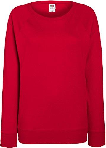 Fruit OF The Loom Damen Raglan Sweatshirt M,Rot