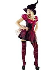 Mix lot Nouvelles femmes Halloween Sorcières classé génial outfit dames sexy bas et chapeau partie de fantaisie filles costume sorcière mauvaise taille mini robe S / M / L / XL