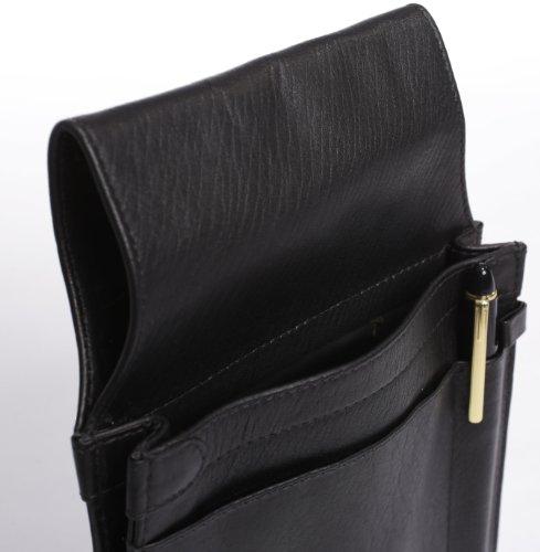 LEDER Kellnertasche schwarz Kellnerholster Tasche Halfter Service Holster Köcher ideal für Restaurant * Club * Gastro * Café * Eisdiele -