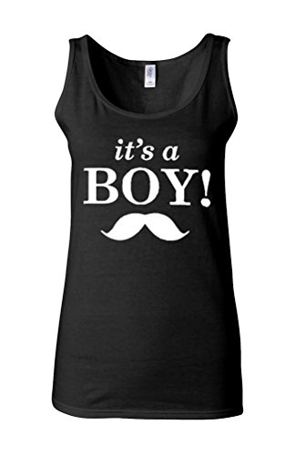 It`s a Boy New Baby Maternity Novelty White Femme Women Tricot de Corps Tank Top Vest *Noir