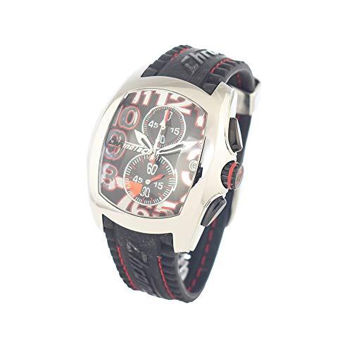 Chronotech orologio analogico quarzo uomo con cinturino in gomma ct7015m-02