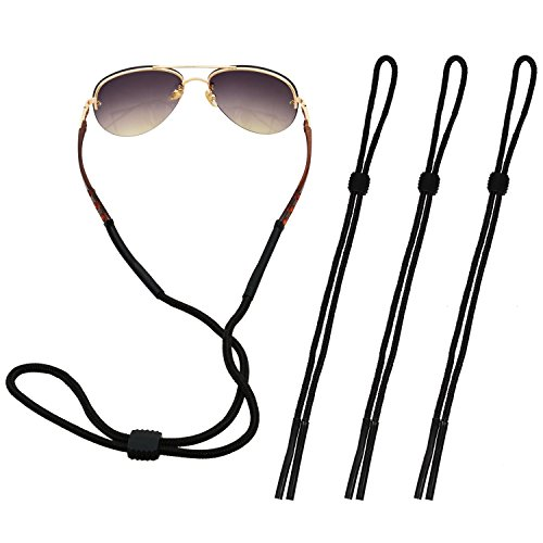 The Friendly Swede 4er-Set Brillenbänder - ideal ALS Brillenband für Lesebrille, Sportbrille oder Sonnenbrille (Schwarz)