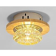 La madera sólida llevó las luces de la sala de estar las luces del efecto corona la separación el cristal las luces del pasillo downlights las luces las lámparas ( Estilo : D )