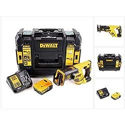 DeWalt DCS 367 P1 Scie sabre sans fil 18V brushless + Coffret de transport TSTAK + 1x Batterie 5,0 Ah + Chargeur