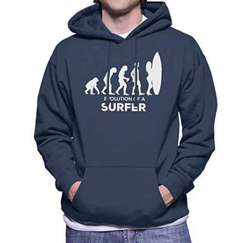 Coto7 Evolution of A Surfer Men's Hooded Sweatshirt