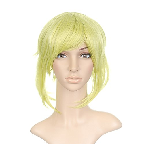 Electric Lime Green Short Length Anime Cosplay Costume -