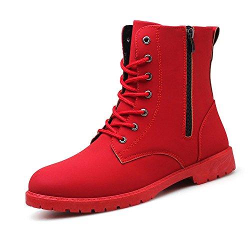 XIAOLIN Scarpe Alte Versione Coreana Tendenza Scarpe Rosse Scarpe Da Lavoro Scarpe Piatte Scarpe Da Uomo ( Colore : Rosso ) Rosso