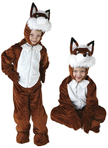 Mädchen Fuchs Kostüm (Gr. 98-128 Fuchs Kinder Kostüm Jungen Mädchen Kinderkostüm Karneval)