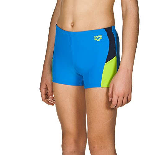 arena Jungen Sport Badehose Ren (Schnelltrocknend, UV-Schutz UPF 50+, Chlor-/Salzwasserbeständig), Pix Blue-Leaf-Navy (816), 140