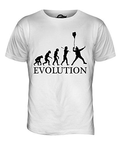 CandyMix Base Jumping Evolution Des Menschen Herren T Shirt Weiß