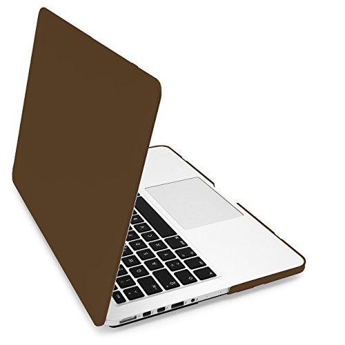 """MyGadget Hülle Hard Case [Gummiert] - für Apple MacBook Pro Retina 13"""" (2012 - Mitte 2016) A1502/A1425 - Schutzhülle Plastik Tasche Cover in Braun"""