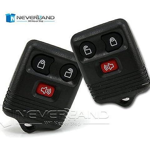 ozuzu (TM) 3pulsanti telecomando auto chiave Shell per Ford F150F250F350Expedition NUOVA sostituzione Keyless Entry auto chiave cover C10