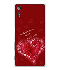 PrintVisa Perfect Heart Words High Gloss Designer Back Case Cover for Sony Xperia XZ :: Sony Xperia XZ Dual F8332