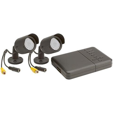 Friedland Response CWK3 - Kit di sorveglianza a circuito chiuso, 2 telecamere cablate a colori e DVR 2 canali